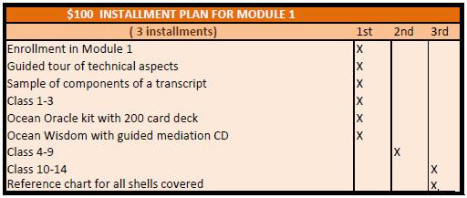 $100 installment plan for Module 1 revised